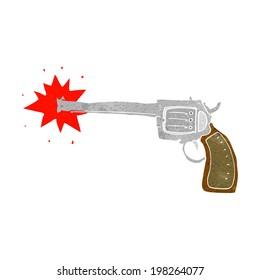 cartoon firing gun