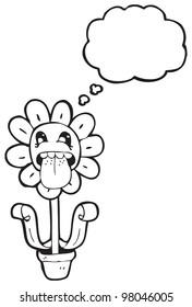 cartoon flower character