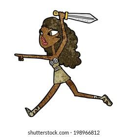 cartoon girl with sword