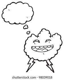cartoon grinning thundercloud