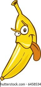 Cartoon illustration of funny banana