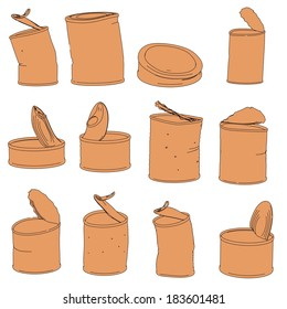 cartoon illustration of rusty cans