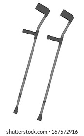 cartoon image of crutches (medical)