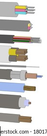 cartoon image of electric cables