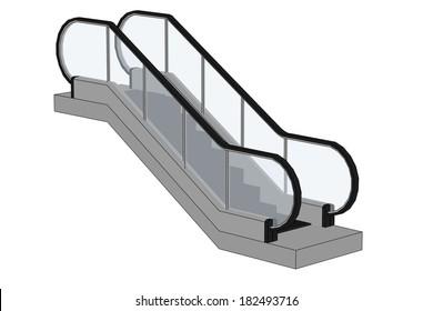 cartoon image of escalator stairs