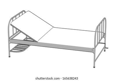 cartoon image of hospital bed