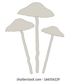 cartoon image of poisonous mushroom