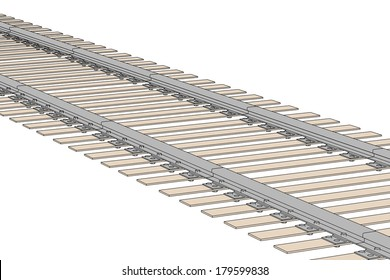 cartoon image of railway track