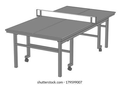 cartoon image of table tennis
