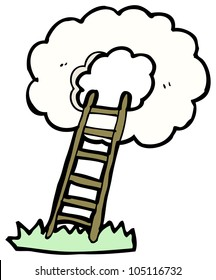 cartoon ladder to heaven