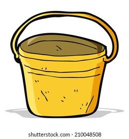 cartoon metal bucket