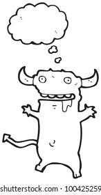 cartoon mischievous little devil