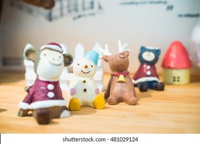 Cartoon Models Christmas Theme