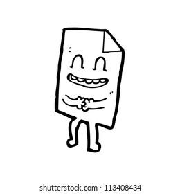 cartoon note paper