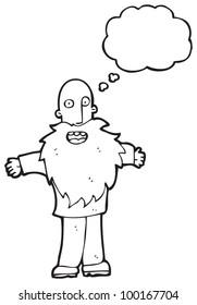 cartoon old man with beard