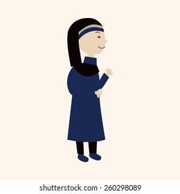 cartoon pastor and nun