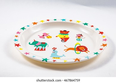 cartoon plate isolated