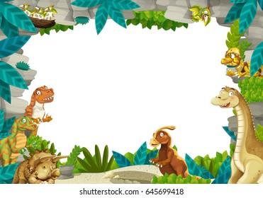 similar images stock photos vectors of frame cartoon dinosaurs