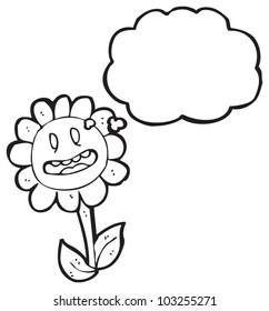 cartoon retro flower