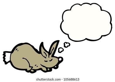 cartoon sleeping rabbit