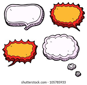 cartoon speech bubble collection