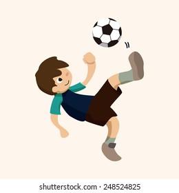 cartoon Sport soccer player