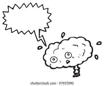 cartoon stressed brain