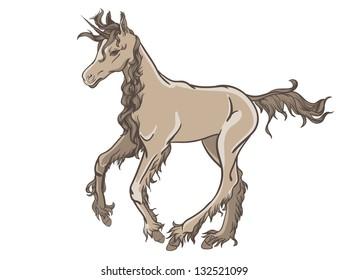 Cartoon style unicorn