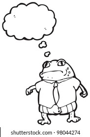 cartoon toad in shirt and tie