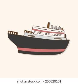 cartoon Transportation boat