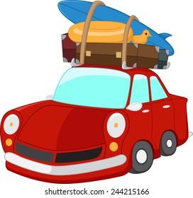 cartoon Travel car