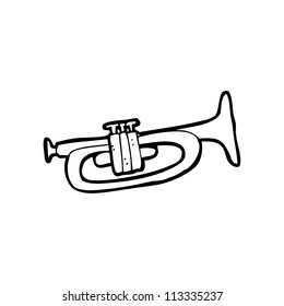 cartoon trumpet