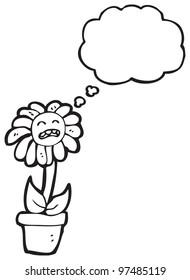 cartoon unhappy flower