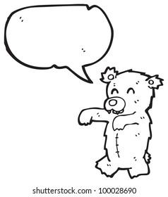 cartoon zombie teddy bear