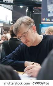 Cartoonist Phil Hubbe at the Frankfurt Bookfair 2014, Frankfurt am Main
