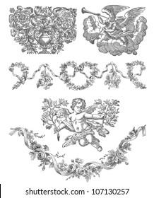 Cartouche set illustration