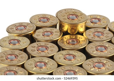 cartridge with gunpowder isolated