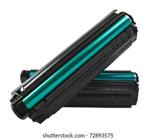 Cartridge for laser printer on white background