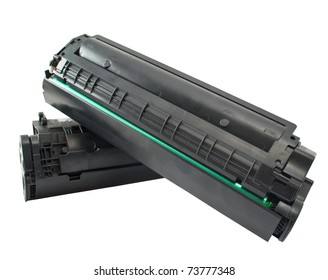 Cartridge for laser printer on white background