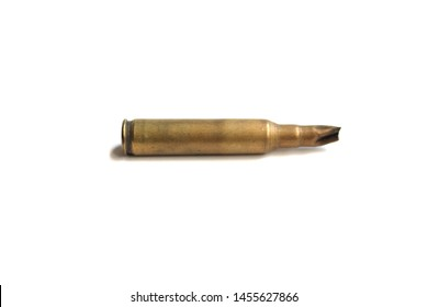 cartridge m16 Through use Lay horizontally isolate on white background