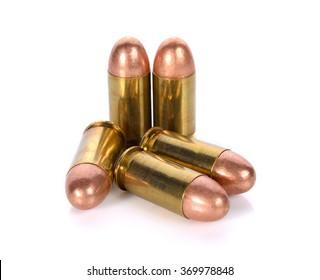 cartridges of .45 ACP pistols ammo.