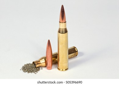 Cartridges with gun powder and bullet