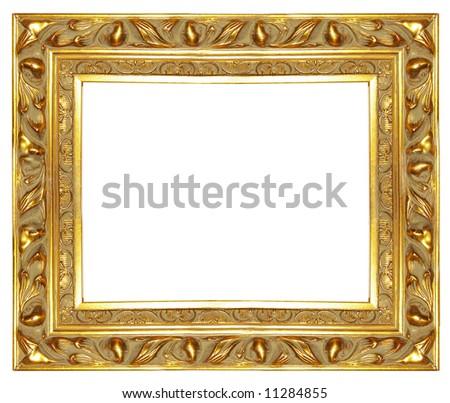 Carved Antique Gilded Frame More Frames Stock Photo (Edit Now ...