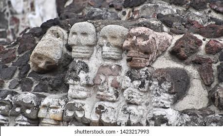 Carved Aztec Skulls (Mexico City, Mexico)