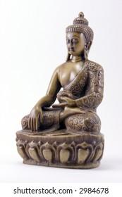 A carved Buddha figurine