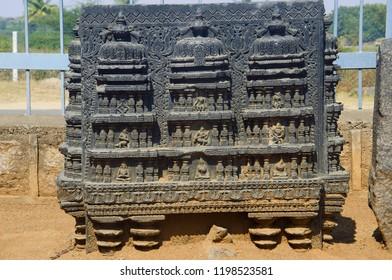 Carved figure, Temple complex, Warangal fort, Warangal, Telangana