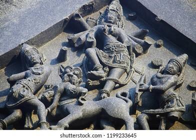 Carved figure, Temple complex, Warangal fort, Warangal Telangana India