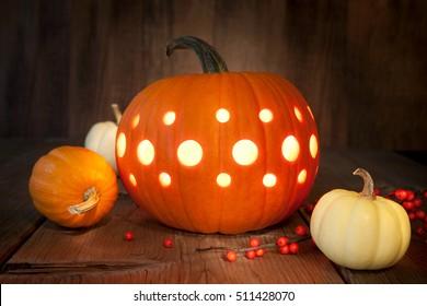 Carved pumpkin