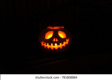 carved pumpkinjack o lantern for halloween taken october 2014 - Nightmare Before Christmas Jack O Lantern