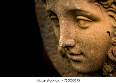 Carved stone statue